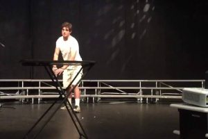 This Guy Crushes His High School Talent Show By Simply Flipping a Water Bottle 12
