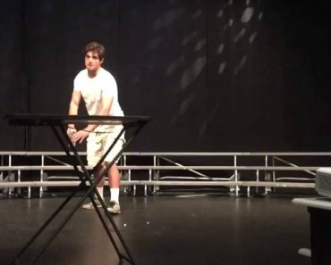 This Guy Crushes His High School Talent Show By Simply Flipping a Water Bottle 6