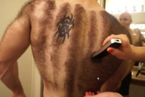 Hairiest Man Shaves His Entire Chest And Back For Bodybuilding 11