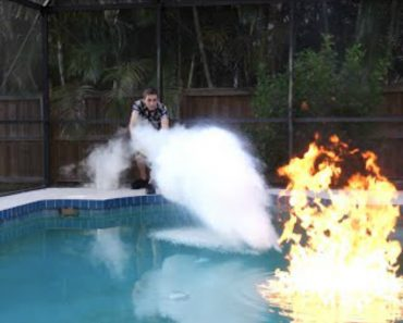 Can Liquid Nitrogen Put Out An On-Fire Swimming Pool? 3