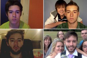 Canadian Takes a Selfie Every Day From Age 12 To The Day Of His Wedding 9