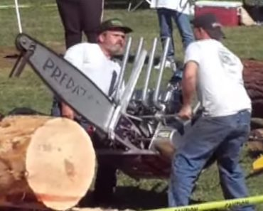 This Predator V8 Chainsaw Holds The World Record For Fastest Log Cutting 2