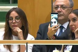 Daughter Of Azerbaijani President Takes Selfies During UN Speech About Genocide 12