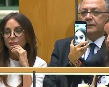 Daughter Of Azerbaijani President Takes Selfies During UN Speech About Genocide 3