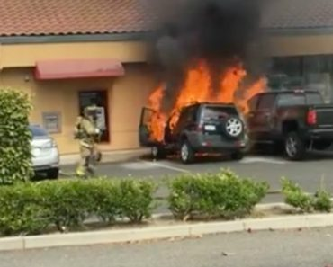 Heroic Passerby Saves Man's Life By Pulling Him From Burning Car 9