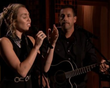 Miley Cyrus And Adam Sandler Opens The Tonight Show With Moving Performance Of 'No Freedom' 5