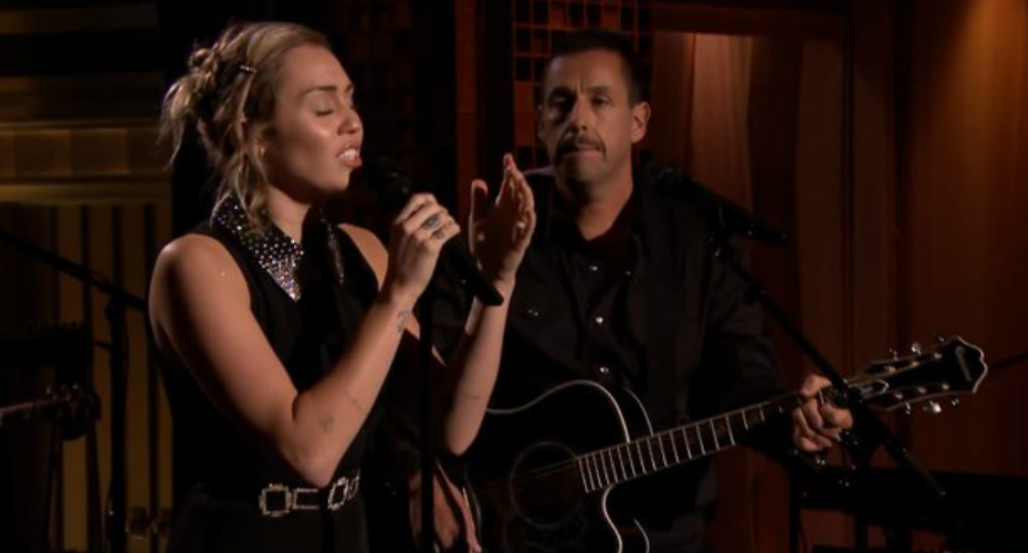 Miley Cyrus And Adam Sandler Opens The Tonight Show With
