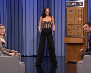 Watch Gal Gadot And Miley Cyrus Battle It Out In Charades On The Tonight Show 1