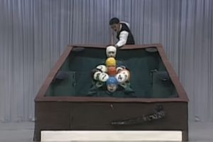 Japanese TV Show Contestants Dress as Billiard Balls and Act Out a Perfect Pool Break Shot 10