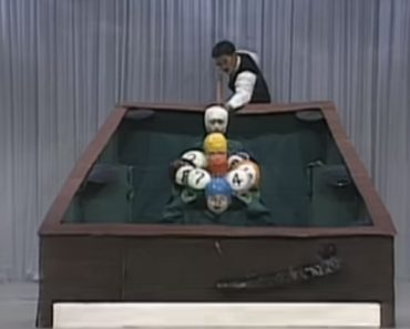 Japanese TV Show Contestants Dress as Billiard Balls and Act Out a Perfect Pool Break Shot 5