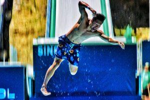 Olympic Training Ski Jump Turned Into Insane Slip & Slide 10