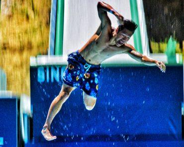 Olympic Training Ski Jump Turned Into Insane Slip & Slide 2