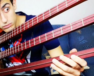 Musician Performs An Impressive Continuous Solo On A Really Odd Triple Neck 6-String Bass 2