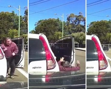 The Bizarre Moment A Man Is Knocked Down By His Own Car 8
