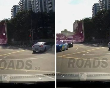 "What's Happening Here? Strange Moment A ""Ghost Car"" Appears And Causes A Crash 9"