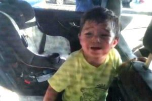 2-Year-Old Boy Who Accidentally Locked Himself Inside Car is Rescued By Cops 12