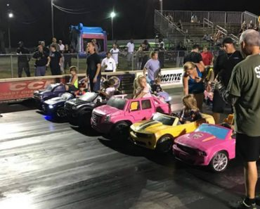 A Group of Speedy Kids Drag Race Their Power Wheels Vehicles Down an Orlando, Florida Dragway 6