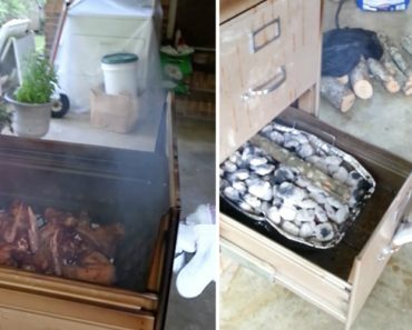 This Genius Turned His Filing Cabinet Into A Barbecue Smoker 6