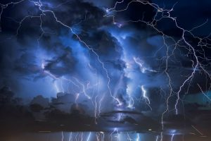 A Spectacular Lightning Strikes Synced To Music 12