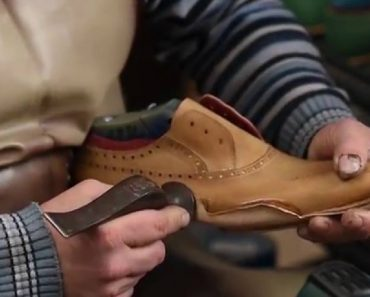 Hand-Made Leather Shoes Being Made From Scratch 6