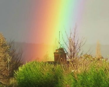 Incredibly Bright Rainbow Spotted In Armley, UK 4