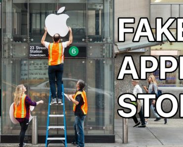 Pranksters Create Fake Apple Store At Subway Station With 50 People Waiting In Line 5