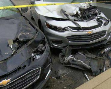 Bizarre Wreck Destroys More Than A Dozen Cars 5