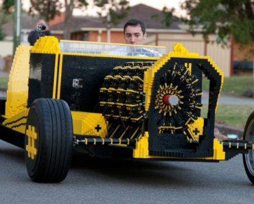 Two Guys Made A Life-Sized Lego Car That Runs On Air 9