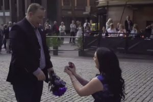 Swedish Woman Surprises Her Boyfriend With A Cute Flash Mob Proposal 11