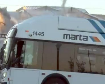 Bus Photobombs The Weather Channel's Stream of Georgia Dome Implosion 2