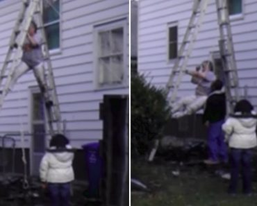 Crazy Woman Demonstrates All The Wrong Ways To Climb Down A Ladder 9