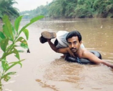 A Teacher Who Swims Through A River Everyday To Get To His Students 7