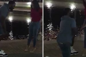Video Shows Man Removing Pricey Sneakers Before Proposing To Girlfriend 12