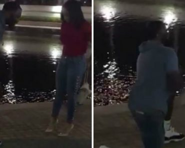 Video Shows Man Removing Pricey Sneakers Before Proposing To Girlfriend 3
