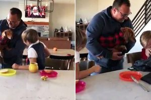 Kids Who Lost Dog in Fire Cry as Dad Gives Them New Puppy 10