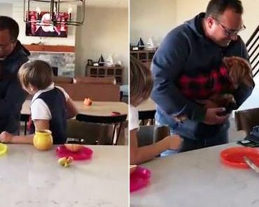 Kids Who Lost Dog in Fire Cry as Dad Gives Them New Puppy 5
