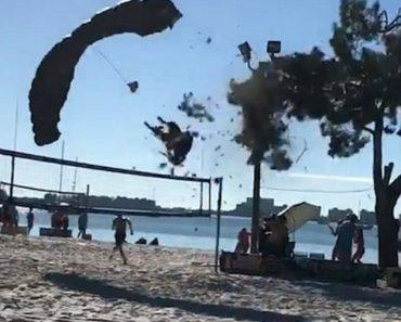 Skydiving 'Santa' Crashes Into A Tree On A Florida Beach 9