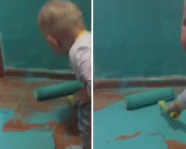 Here's Why You Don't Leave The Roller Around Baby When You're Painting The Walls 6
