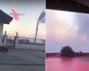 California Man Records Plane Dropping Fire Retardant On His House 7