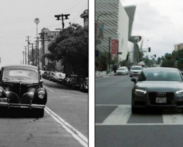 Los Angeles 70 Years Ago And Today, Side By Side 5