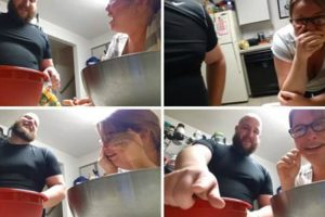 Father-To-Be Films Hormonal Pregnant Wife's Hilarious Reaction To Him Putting Vegetables In Bag 10