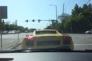 Lamborghini Driver Suffers Embarrassing Accident At Traffic Lights 10