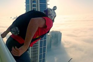 A BASE Jumper Takes A Leap Of Faith Into The Clouds 10