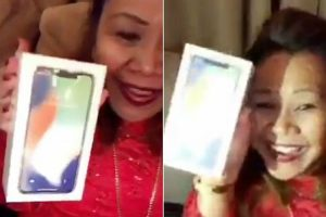Hilarious Moment Mother Opens Iphone X And Thinks It's Perfume 10