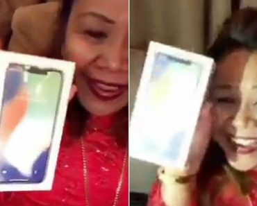 Hilarious Moment Mother Opens Iphone X And Thinks It's Perfume 9