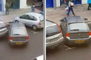 Woman Makes Huge Parking Fail As Crowd Gathers To Watch Her Baffling Attempt To Drive Into A Space 9