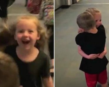 Cute Military Kids Reunite After Surprise Meeting 8