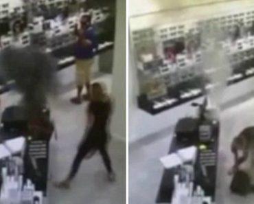 Surveillance Footage Captures A Vape Battery Exploding Inside Woman's Purse! 2