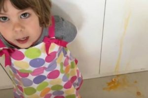 This Little Girl Made The Cutest (And Messiest) Cooking Video With Her Dad's Help 10
