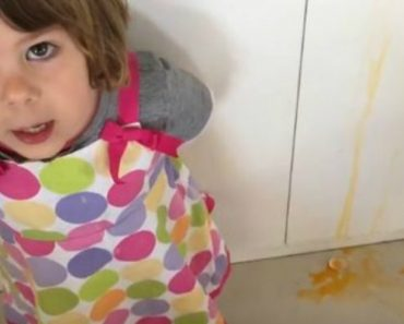 This Little Girl Made The Cutest (And Messiest) Cooking Video With Her Dad's Help 6